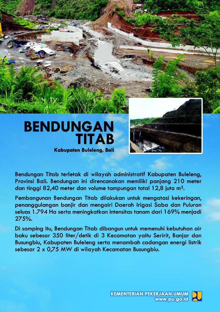 Bendungan Titab  Kabupaten Buleleng, Bali