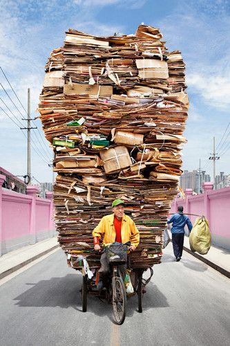"""Alain Delorme's series """"Totems"""" looks Shanghai's migrant workers."""