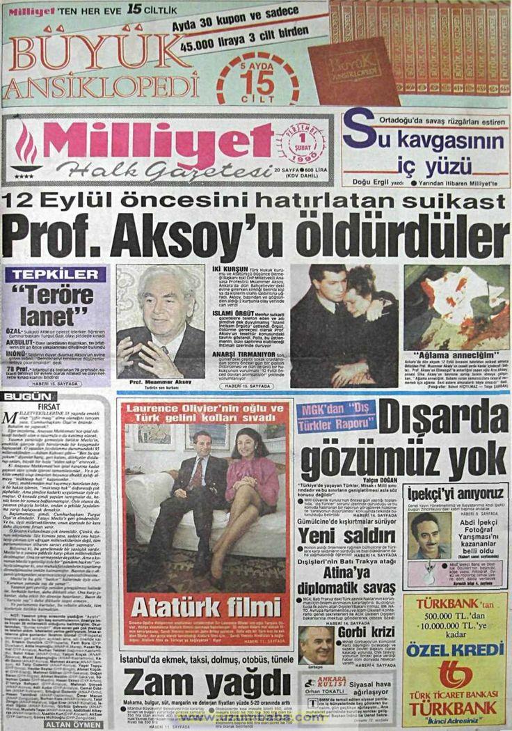 Milliyet gazetesi 1 şubat 1990