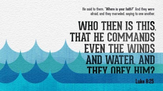 (6) Luke 8:25