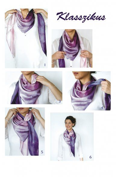Classic - 6 Ways to tie a scarf (probably have to translate the site)