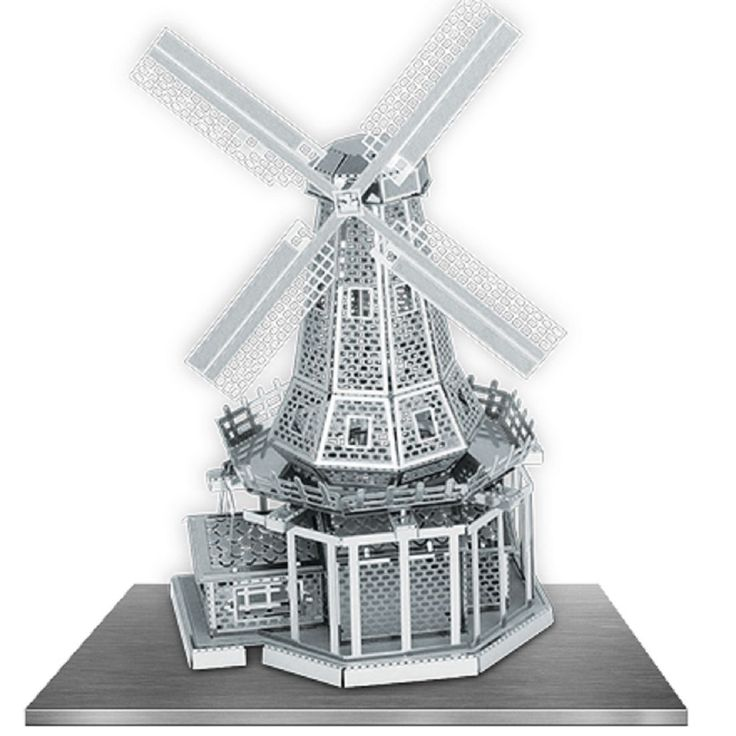 Fascinations Metal Earth Metal Works 3D Laser Cut Model Windmill MMS38 | eBay
