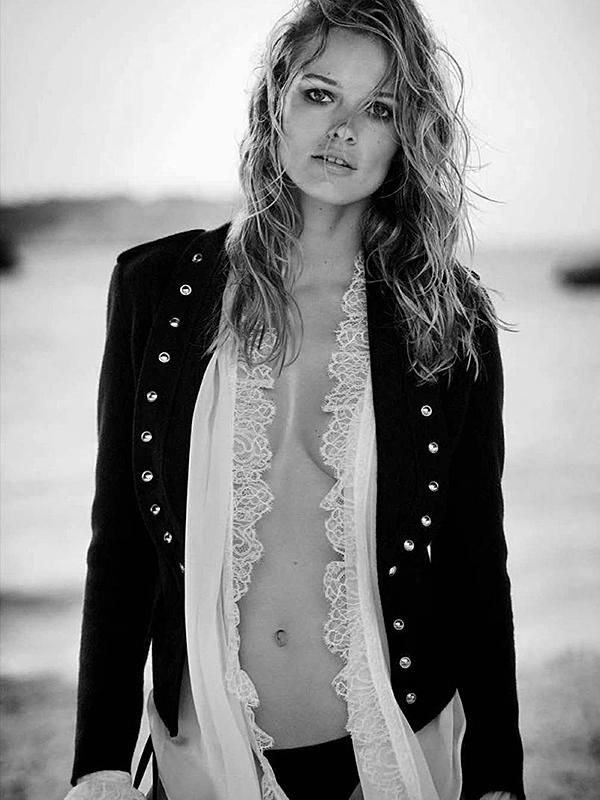 Edita Vilkeviciute Black And White Topless