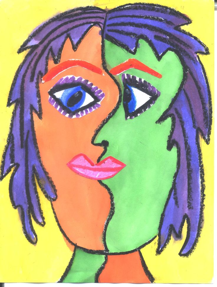 Picasso Faces | Picasso was known for his cubist style of painting. The cubist style ...