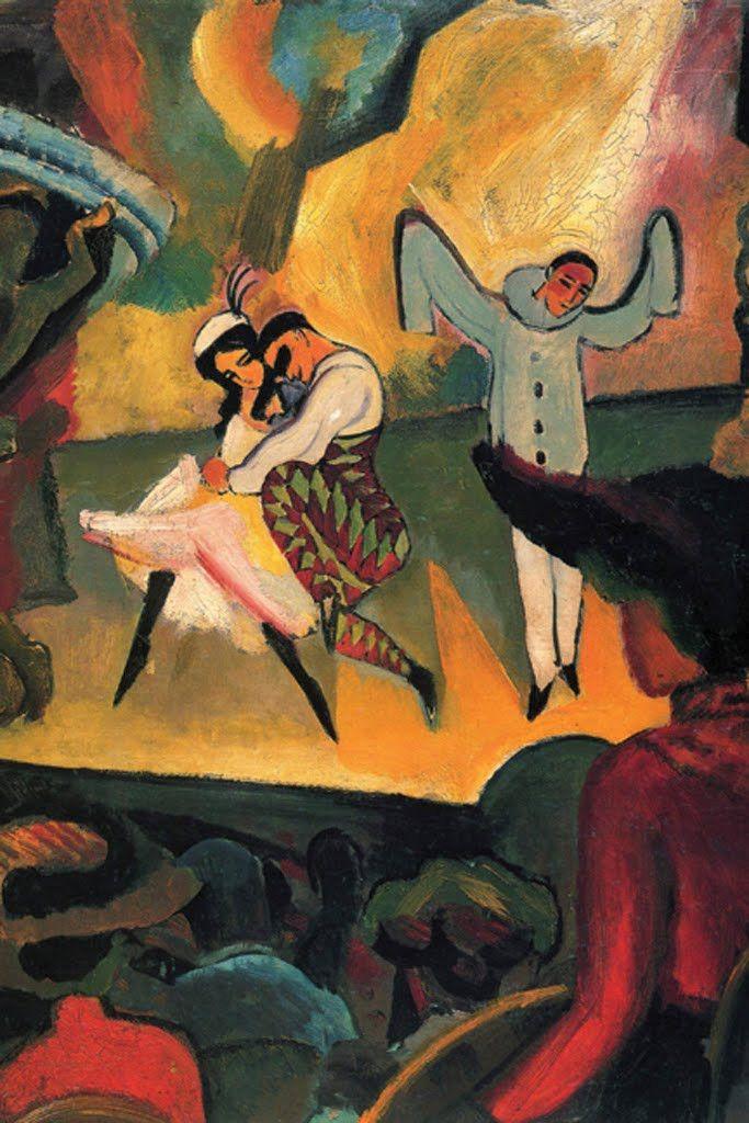 Russian Ballet, by August Macke