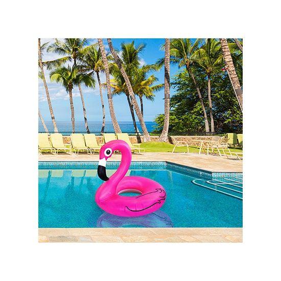 Opblaasbaar, Grote flamingo zwemband 120 cm bij Feestwinkel Fun en Feest Belgi�. Online Grote flamingo zwemband 120 cm bestellen. Verzending Belgi� � 9