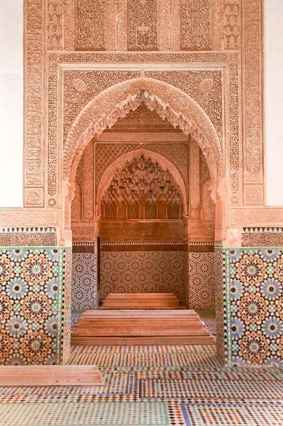 stunning architecture in marrakech, morocco.