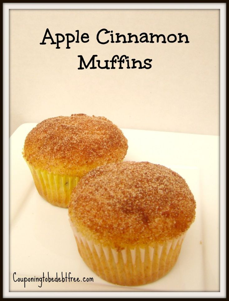 These Apple Cinnamon #Muffins are delicious, inexpensive, easy to make!