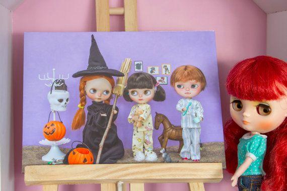 Fotografía temática de muñecas Blythe en papel por SweetMemories58