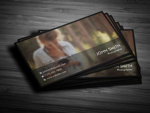 Photographer Business Card 02 by Awns Creators on @creativemarket
