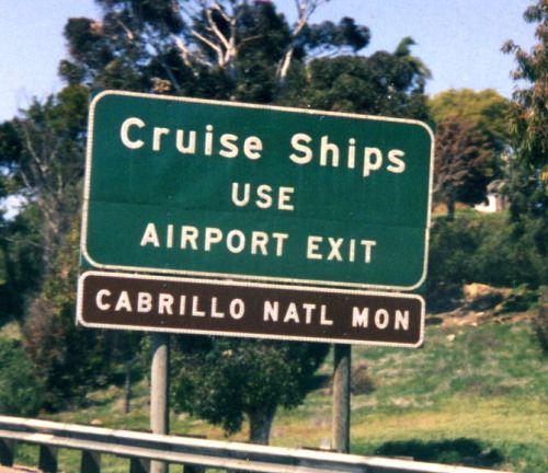 Cruise Ships use Airport Exit