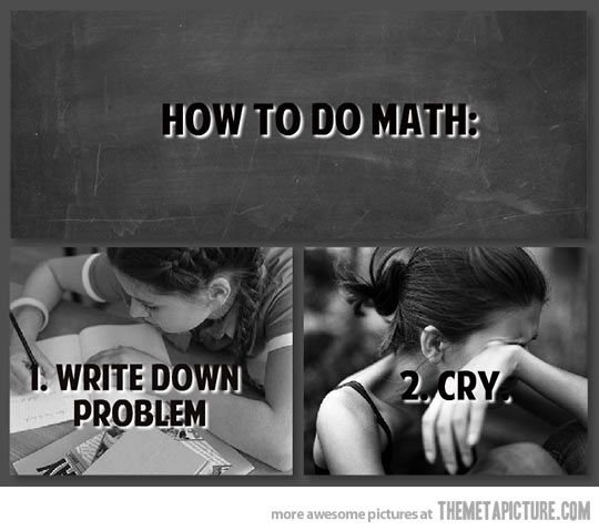 This is exactly how I do math