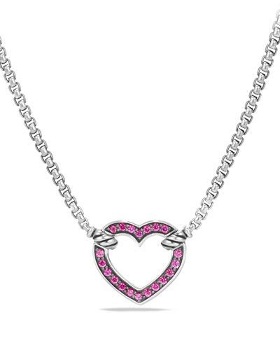bf0d391498127 DAVID YURMAN VALENTINE HEARTS PINK SAPPHIRE STATION NECKLACE ...