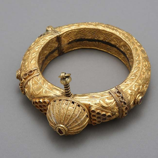 Gold anklet.Western India