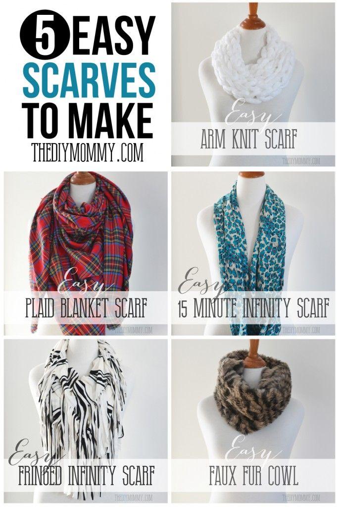 5 easy diy scarves to make tutorials materials suggestions diy crafts pinterest arm. Black Bedroom Furniture Sets. Home Design Ideas