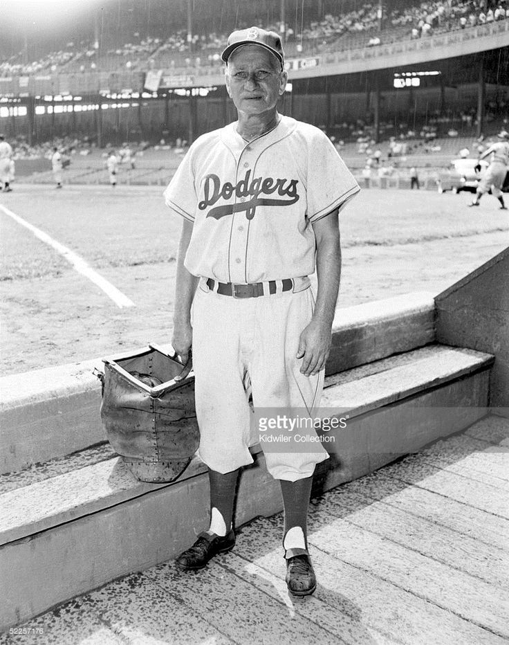 MANHATTAN, NY - 1950's: Coach Jake Pitler of the Brooklyn Dodgers poses for a 1950's portrait at the Polo Grounds in Manhattan, New York.