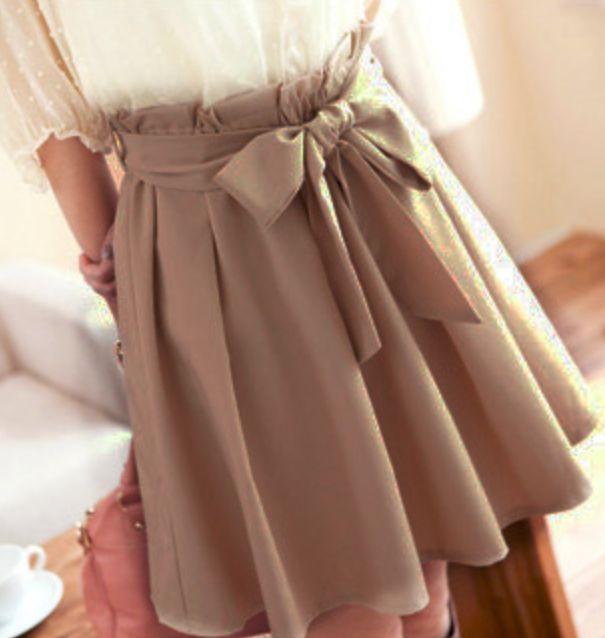 Cute bow skirt