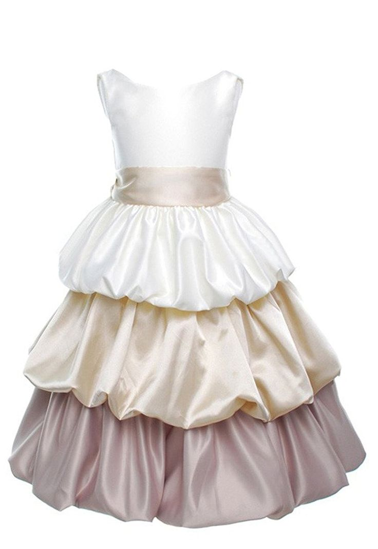 GEORGE BRIDE Flower Girl vestito da fiore bambini del pannello esterno Maedchenrock abiti da sposa 0021: Amazon.it: Abbigliamento