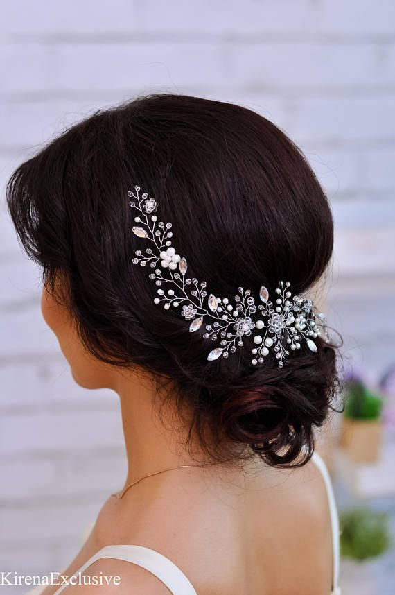 Wedding headpiece for wedding hairpiece with pearls Bridal