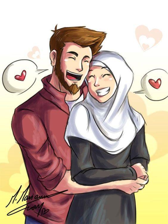 Pin On Cartoon Muslim couple cartoon hd wallpaper