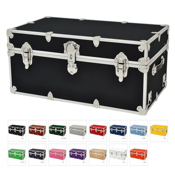 "Amazon.com: College Trunks with Wheels - Rhino Sticker Dorm Trunk - X-Large - 34"" x 20"" x 15"": Kitchen & Dining"