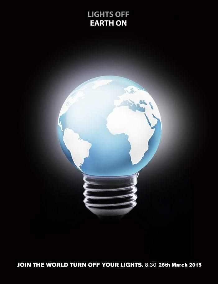 Let us stand together to make our Earth sustainable! #EarthHour