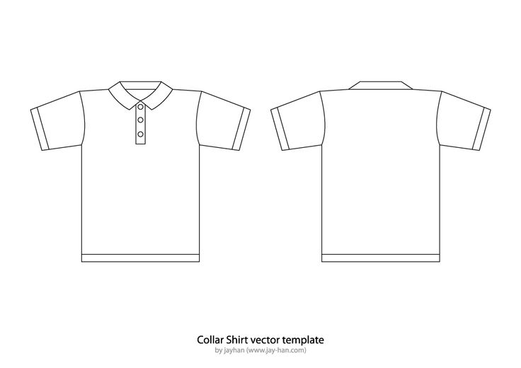 T Shirt Templates Collar T Shirt Or Polo Shirt Template