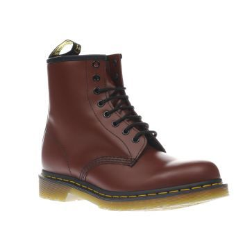 Dr Martens Burgundy 8 Tie Mens Boots The 8 Tie boot is something of a Dr. Martens legend and remains as impressive as ever. A smooth and hard wearing leather upper in classic cherry sits on an AirWair sole unit with a welted construction http://www.MightGet.com/january-2017-13/dr-martens-burgundy-8-tie-mens-boots.asp