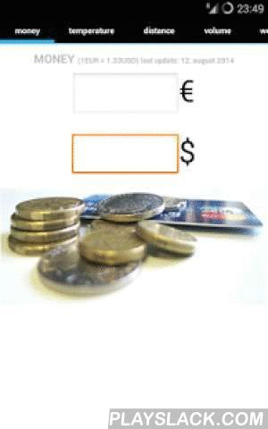 EU - USA Converter  Android App - playslack.com ,  Have the most commonly used units converter right in your pocket on your way- quickly convert MONEY, TEMPERATURE, DISTANCE, VOLUME, WEIGHT or LENGTH- never get confused- always have actual EUR/USD exchange rate