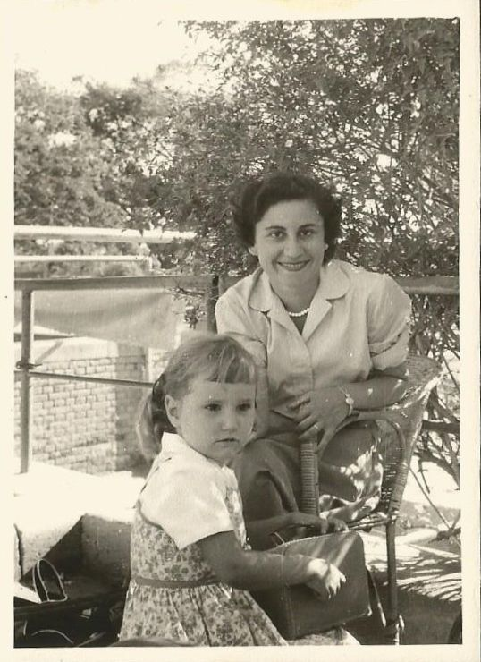 "With my mother Place: Gezira Sporting Club, Cairo Time: Long ago From my blog post ""No Mother is Perfect"""