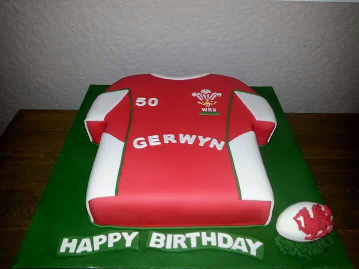 Ty Coffi Cakes Rugby Shirt Cake