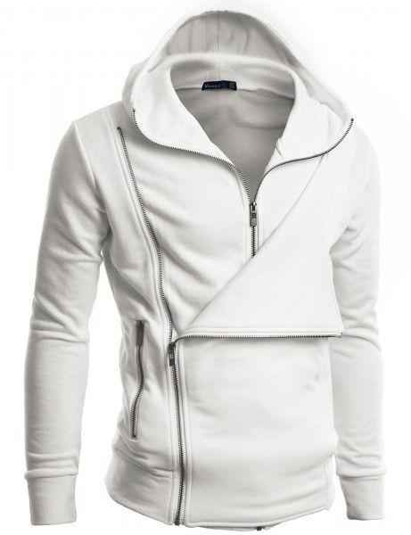 Doublju - Blusa Casual em Design Único Jaqueta com Capuz (C7J) Compre roupas de qualidade, com design inovador e preço justo!