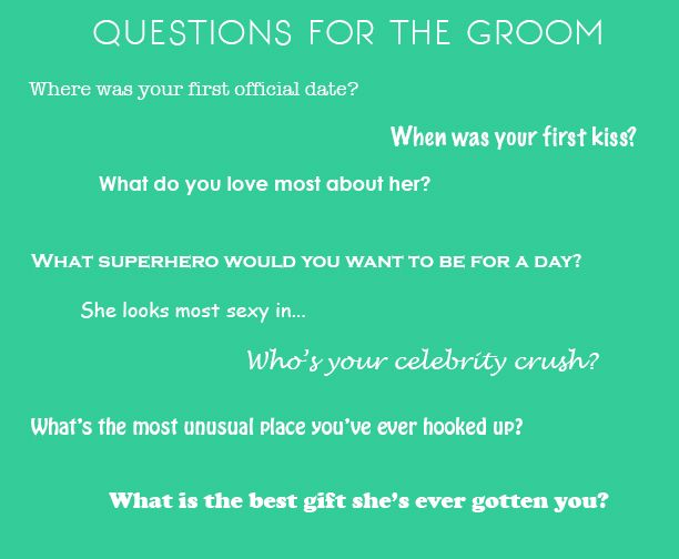 Bachelorette Party Game Questions!