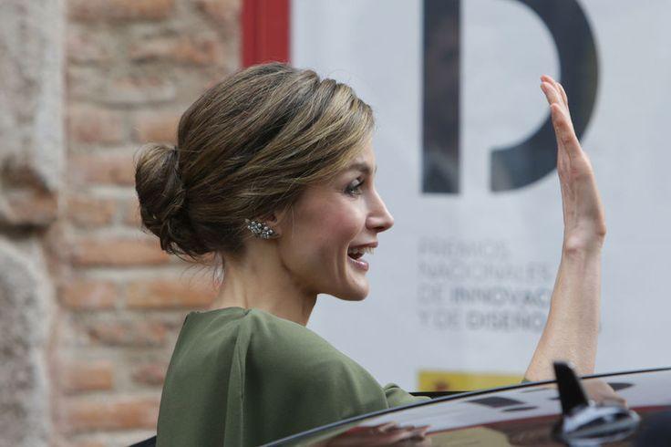 Letizia Felipe VI D'Espagne À Alcala De Henares Le 6 Février 2017 25