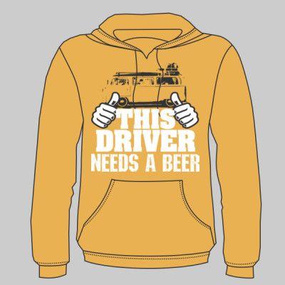 This Driver Needs A Beer Volkswagen Campervan Hoodie