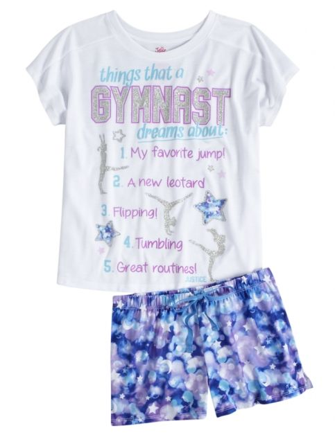 Gymnast Pajama Set | Girls {category} {parent_category} | Shop Justice