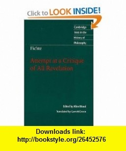 8 best ebook downloads images on pinterest tutorials before i die fichte attempt at a critique of all revelation cambridge texts in the history of philosophy fandeluxe Image collections