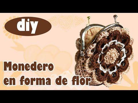 Monedero con fichas de aluminio a crochet: Monedero Estrella - YouTube