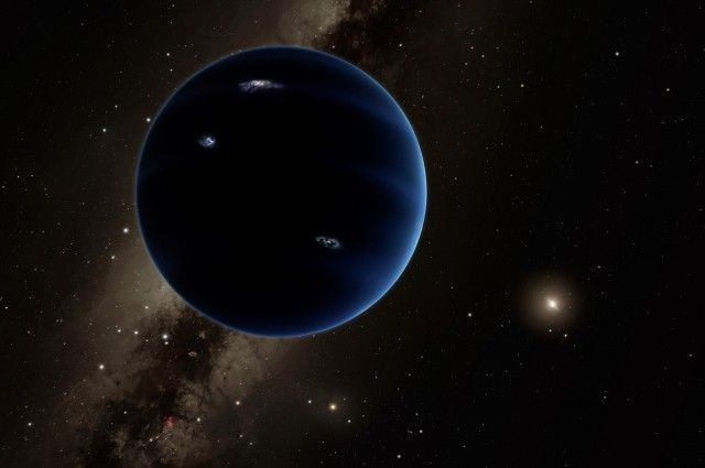 Where Is Planet Nine? | IFLScience ...Planet Nine was first proposed to exist by astronomers Mike Brown and Konstantin Batygin last month. By modeling the motion of objects in the Kuiper Belt, an area of icy bodies outside Neptune's orbit, they suggested there was a Neptune-sized planet 10 times the mass of Earth orbiting the Sun at a distance of more than 200 AU (astronomical unit, 1 AU is the Earth-Sun distance)...