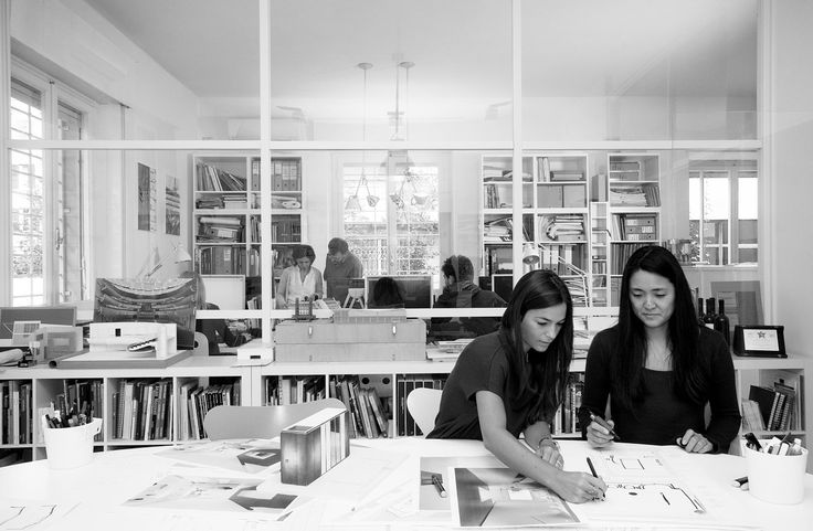 Hard at work at Alvisi Kirimoto + Partners' office in Rome, Italy.