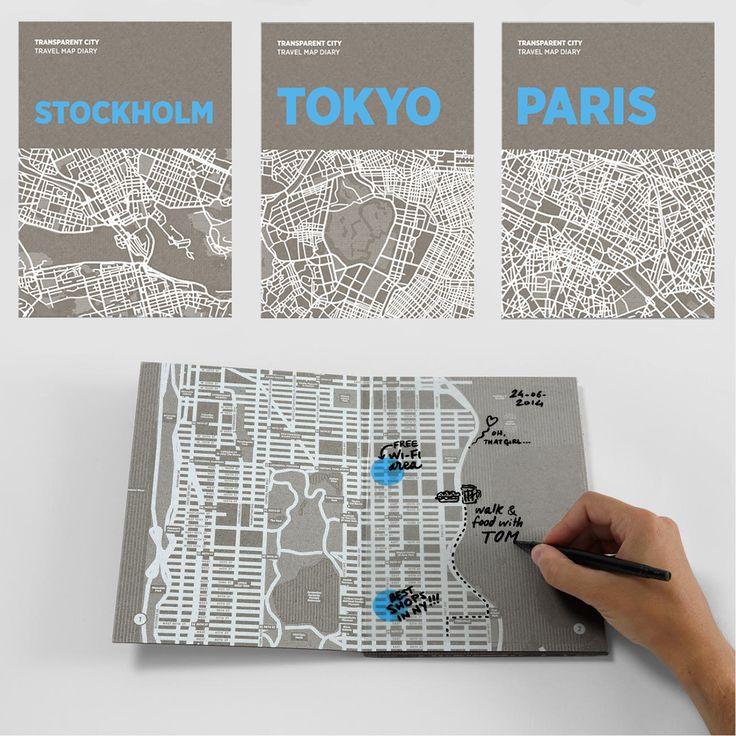 """斬新でスタイリッシュな雑貨を提案し続けるイタリアのデザインブランド""""PALOMAR""""から新しいカタチのマップ「Transparent…"""
