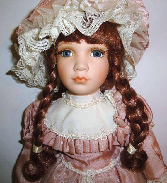 Vintage Porcelain Doll 18 William Tung Tuss Inc