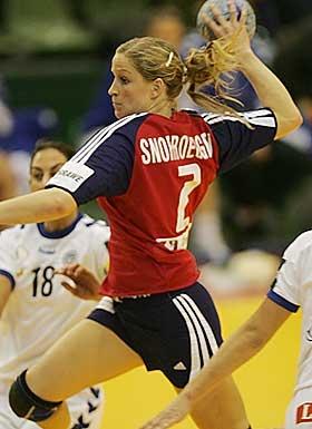 Gøril Snorroeggen, norwegian handball player.