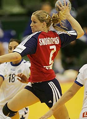 Gøril Snorroeggen, norwegian handball player.