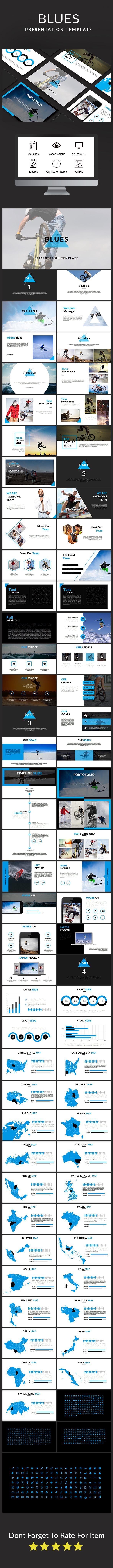 Blues Presentation Template — Keynote KEY #entrepreneur #benchmarking • Download ➝ https://graphicriver.net/item/blues-presentation-template/19438856?ref=pxcr