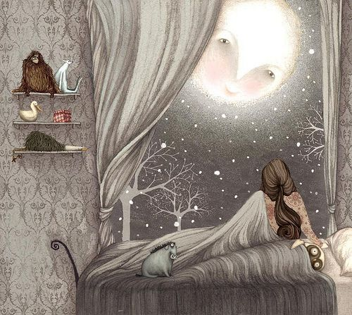 moon: Fantasy, Lisa Evans, Dream, Goodnight Moon, Moon, Illustrations, Art, Things, The Moon