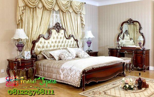Harga Kamar Set Jati Jepara Kualitas A1 jual perlengkapan paket set kamar tidur seperti *Tempat Tidur *Nakas Lampu *Meja Rias *Lemari pakian kayu jati