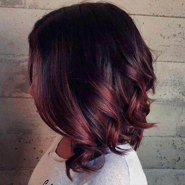 Модные бордовые оттенки волос 2019 рекомендации