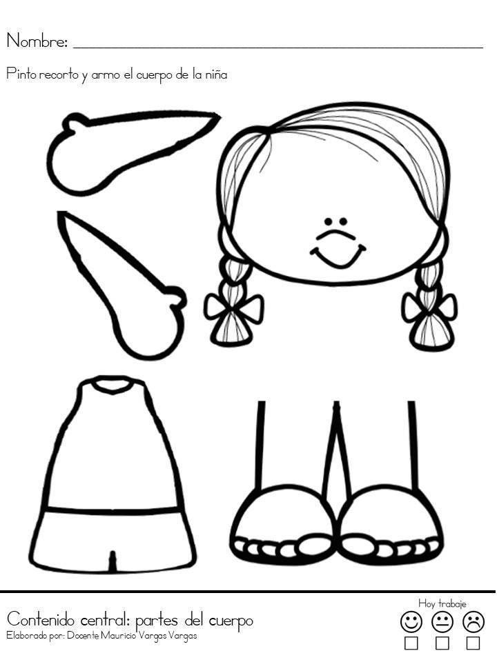 Apresto Cuaderno Completo 11 Rompecabezas Del Cuerpo Humano Partes Del Cuerpo Preescolar El Cuerpo Preescolar