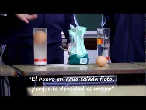 Experimento: Densidad del agua - Colegio de La Presentación de Guadix (Granada) - YouTube#at=11#!